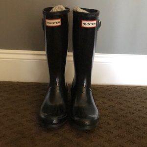 Kids black Hunter Boots